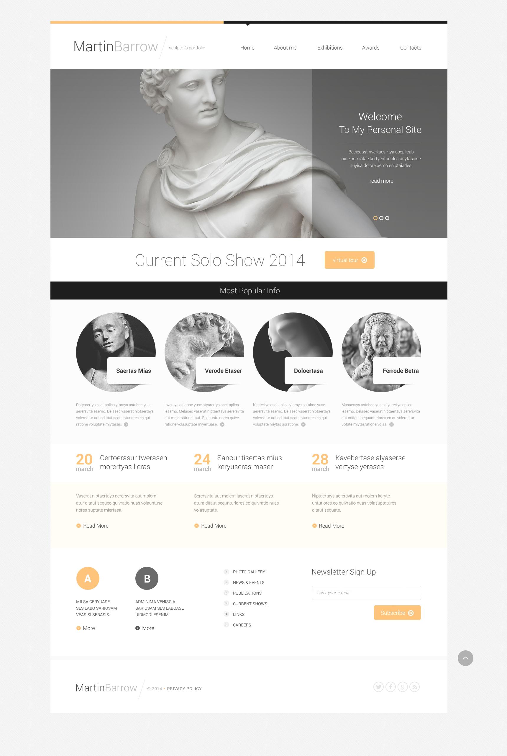 Responsive Website Vorlage für Skulptur #50662