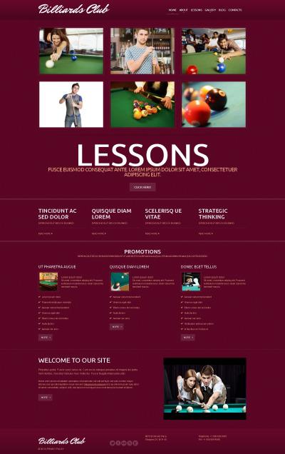 Billiards Responsive WordPress Thema