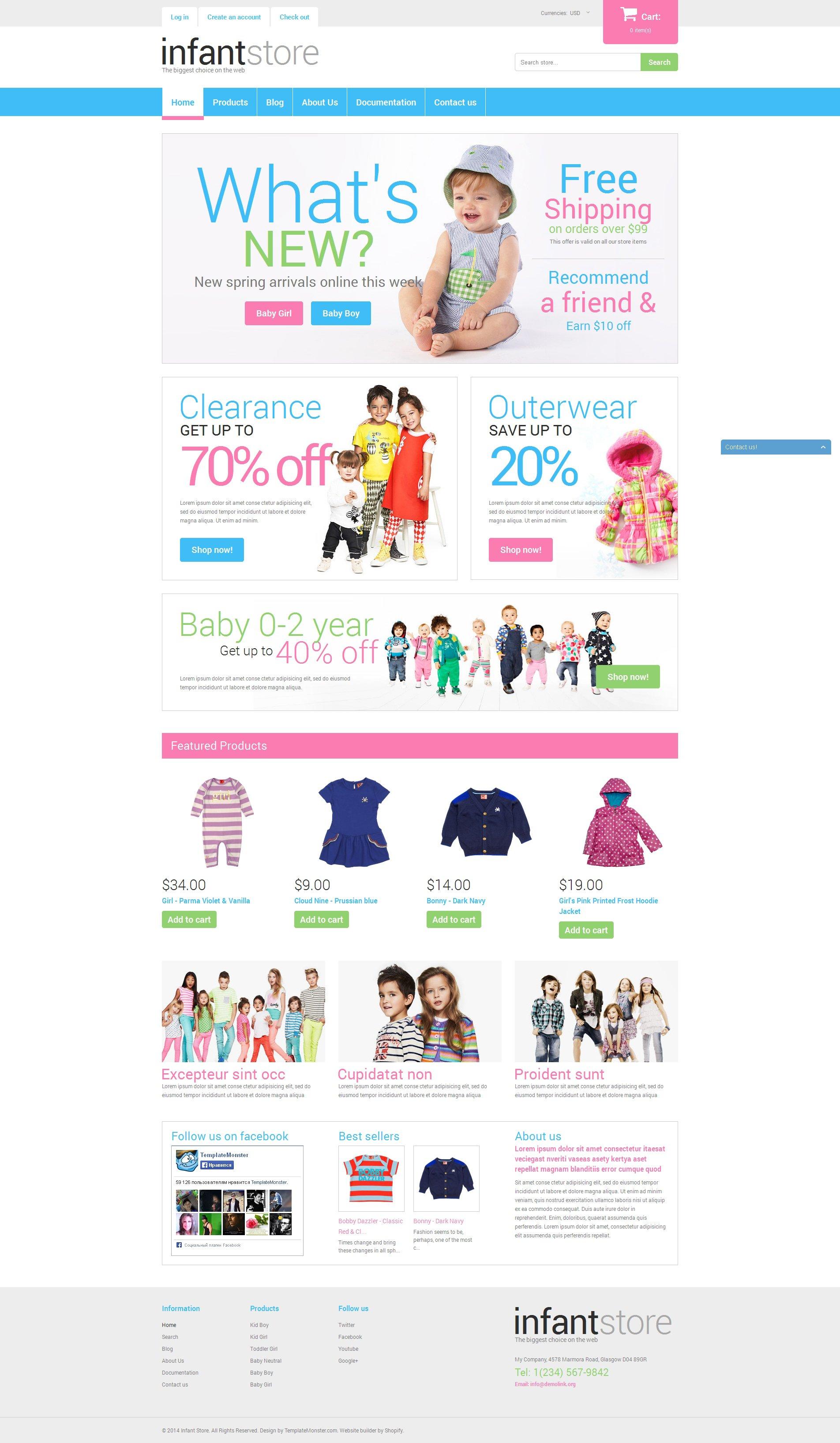Responsywny szablon Shopify Dressing Kids in Style #50668