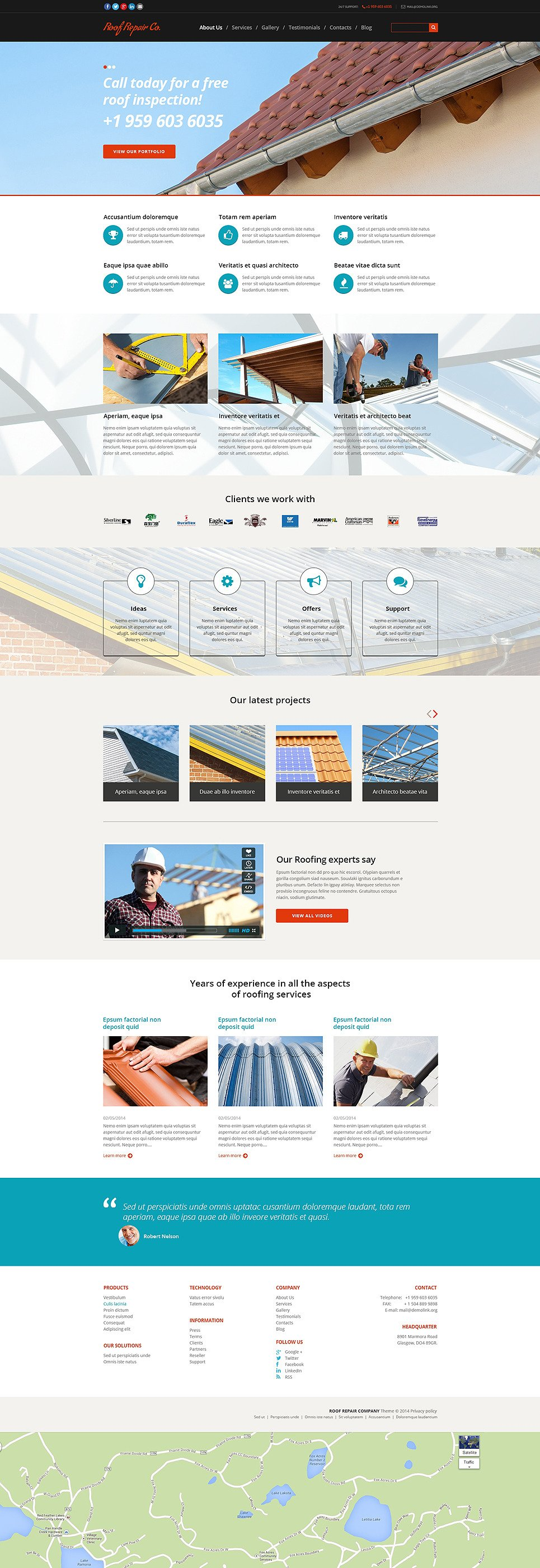 Roof Repair Services Joomla Template New Screenshots BIG