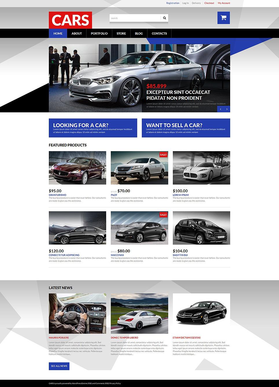 Selling Cars WooCommerce Theme New Screenshots BIG