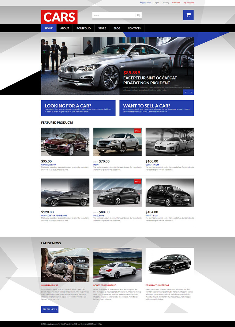 Selling Cars WooCommerce Theme New Screenshots BIG