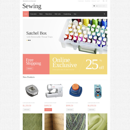Sewing   - Responsive Magento Template