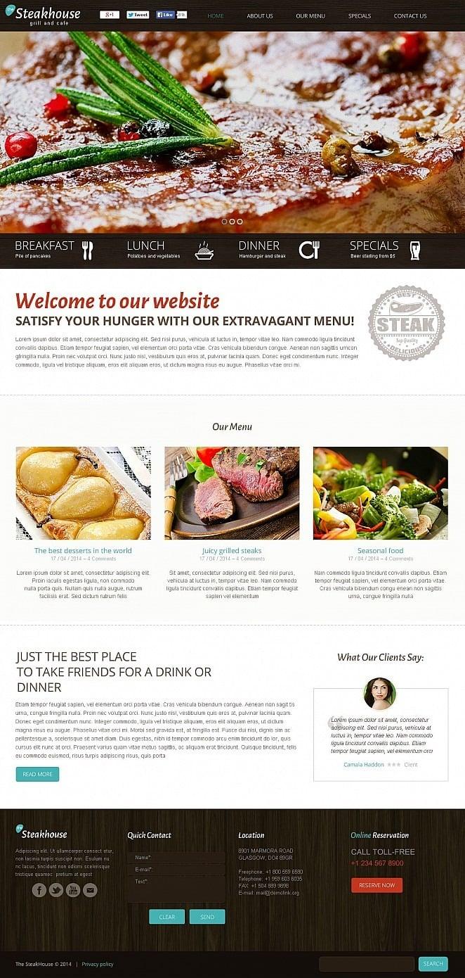 Steakhouse Flash CMS Template New Screenshots BIG