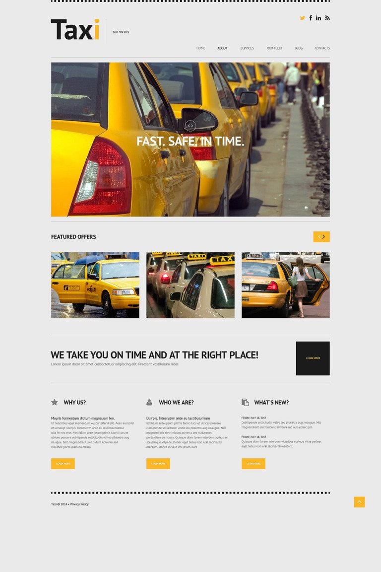 Taxi Responsive WordPress Theme New Screenshots BIG