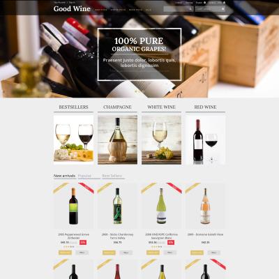 Responsive Tema De PrestaShop #50698 para Sitio de  para Sitio de Vino