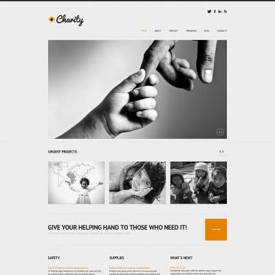 Tema de WordPress #50611 para Sitio de Caridad para niños