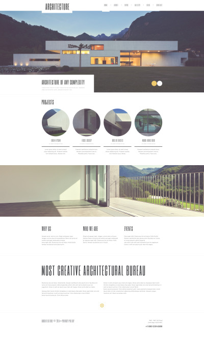 Responsive Tema De WordPress #50604 para Sitio de  para Sitio de Empresas de construcción