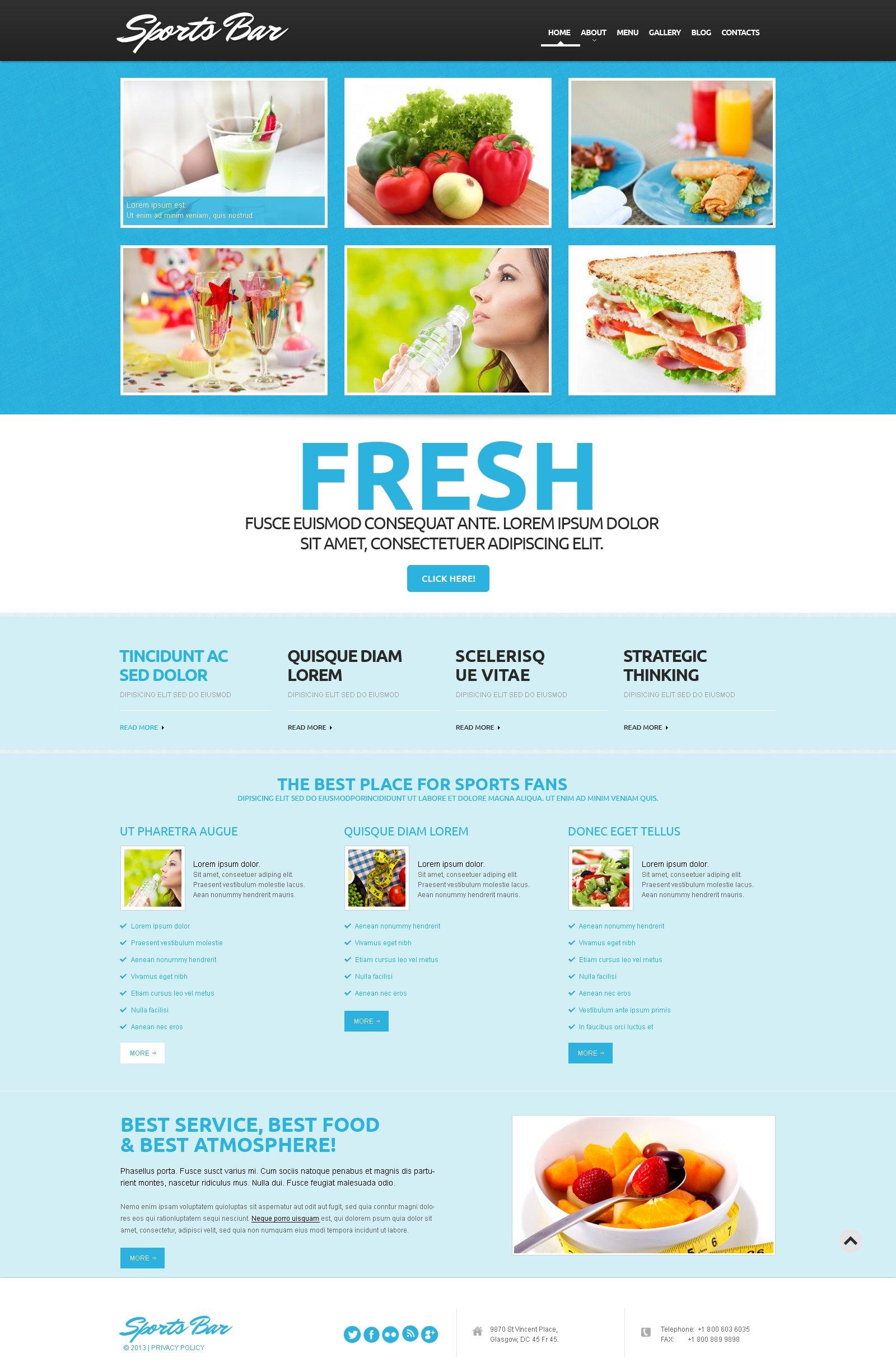 Tema De WordPress Responsive para Sitio de Cocktail Bard #50606