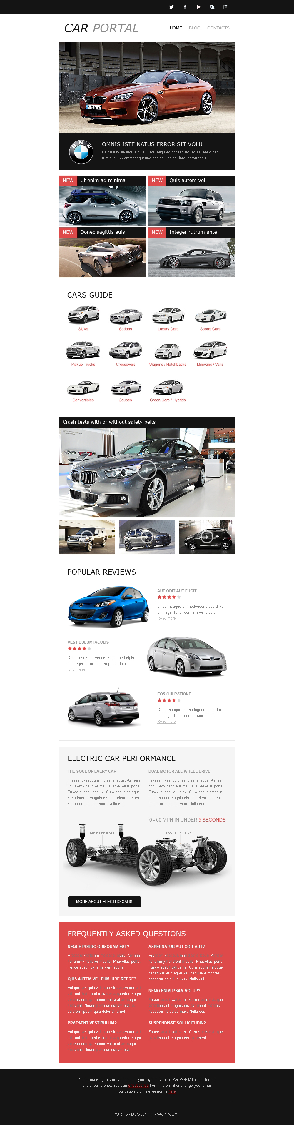 Tema di Newsletter Responsive #50679 per Un Sito di Club Automobilistico