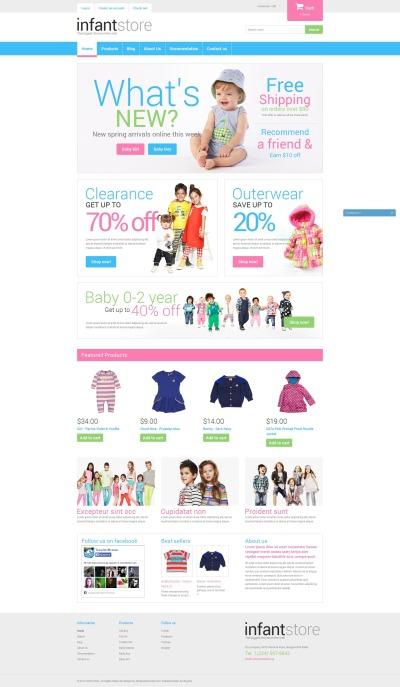 Responsive Tema Shopify #50668 para Sitio de  para Sitio de Recién nacidos