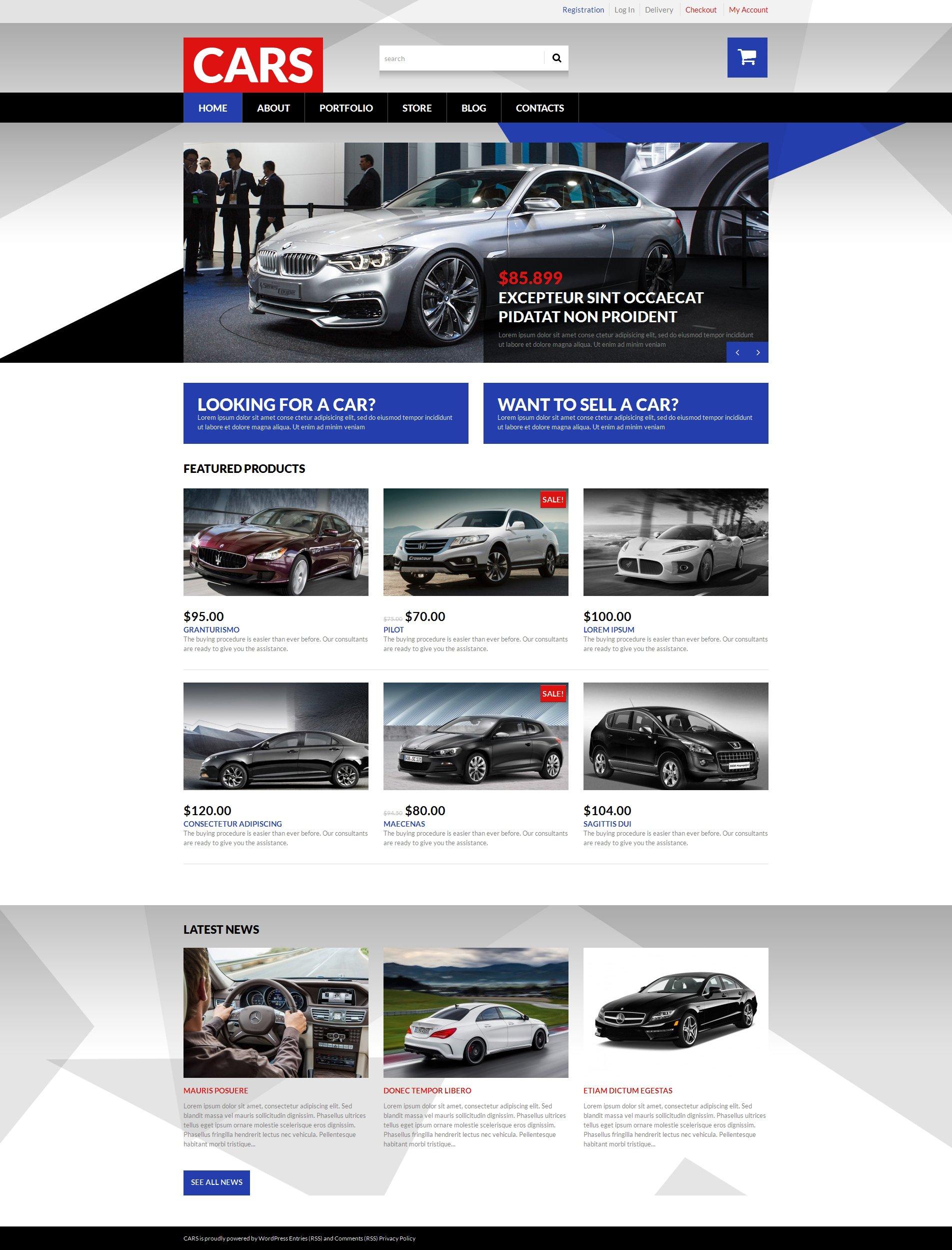 "Tema WooCommerce ""Selling Cars"" #50691"