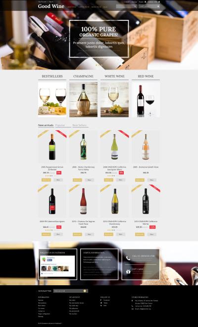 Wine Responsive Tema PrestaShop