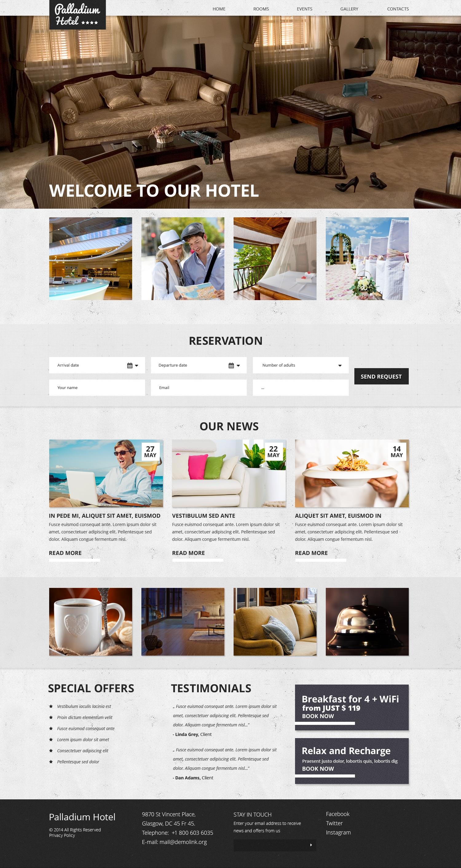 Template Web Flexível para Sites de Hotéis №50639 - captura de tela