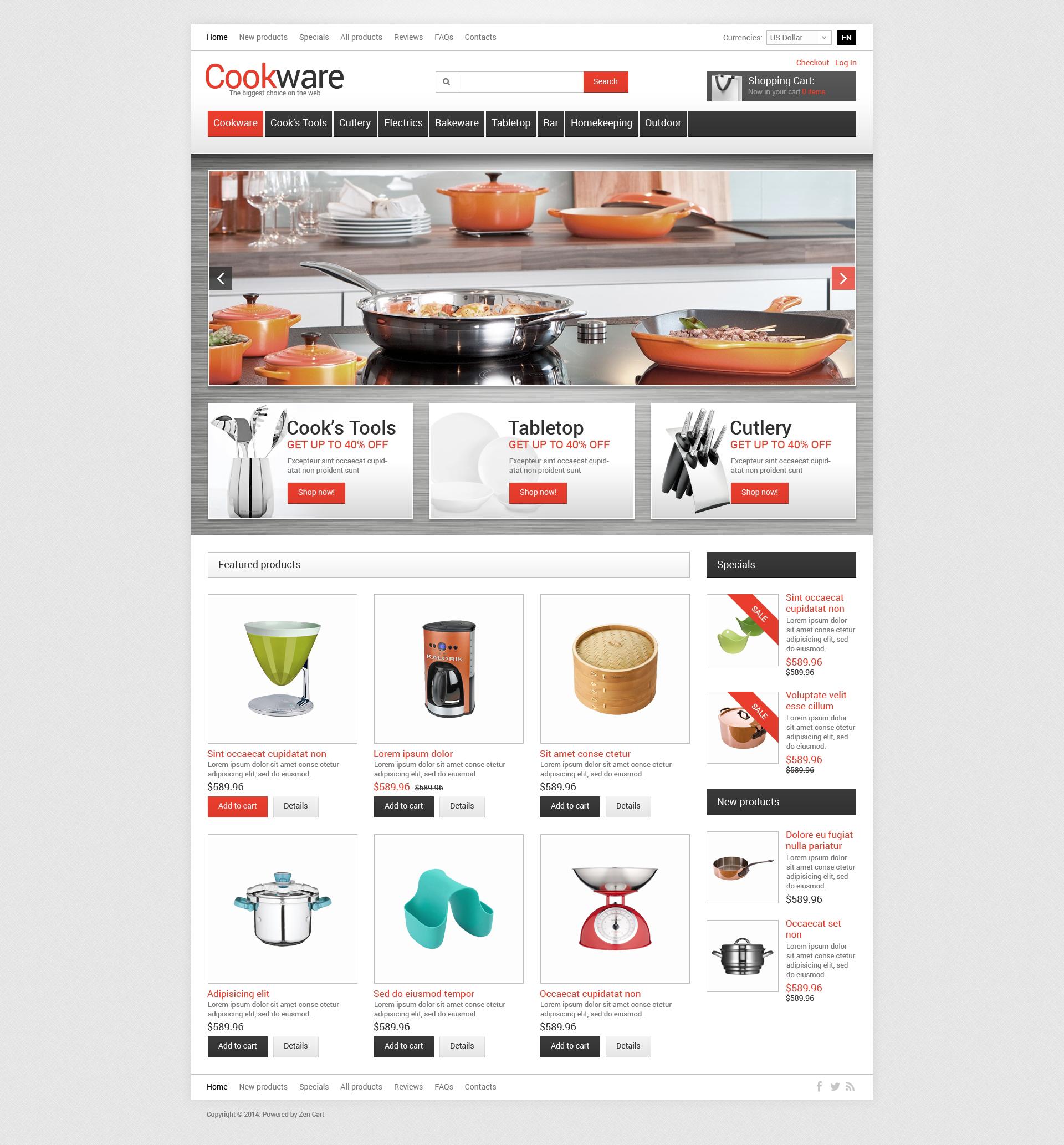 Template ZenCart #50689 per Un Sito di Articoli per la Casa