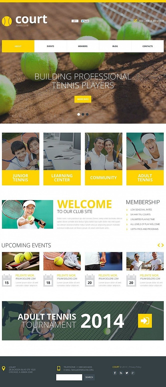 Tennis Flash CMS Template New Screenshots BIG