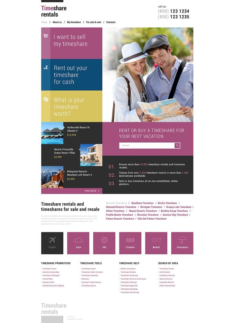 Travel Responsive Website Template New Screenshots BIG
