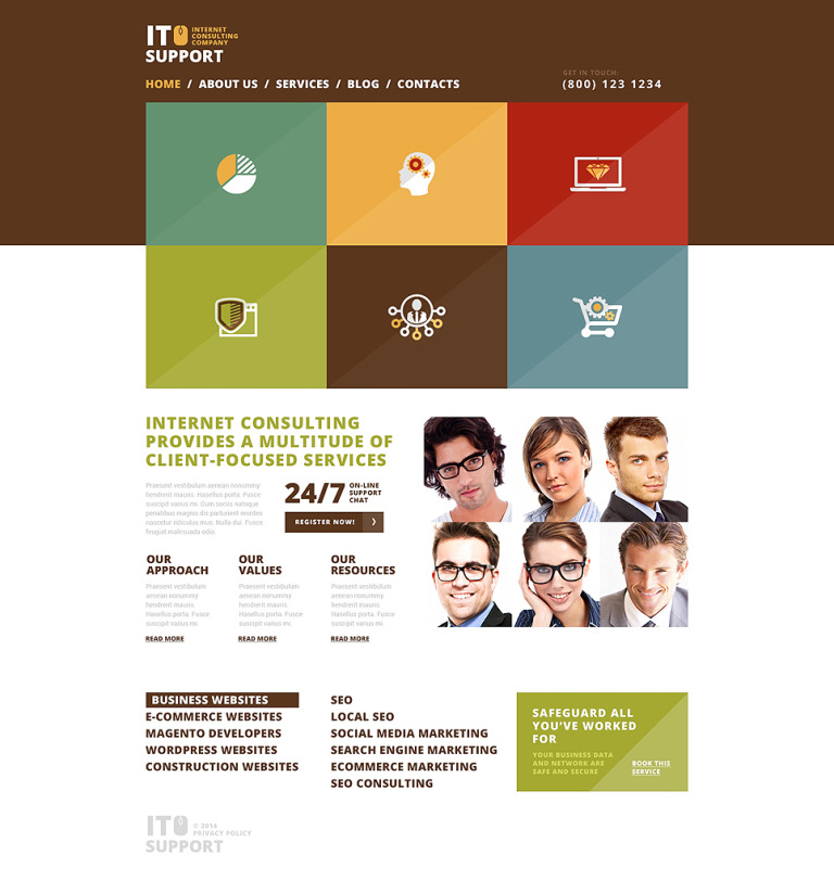 Trustworthy IT Company WordPress Theme New Screenshots BIG