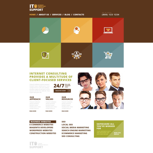 It Support - WordPress Template based on Bootstrap
