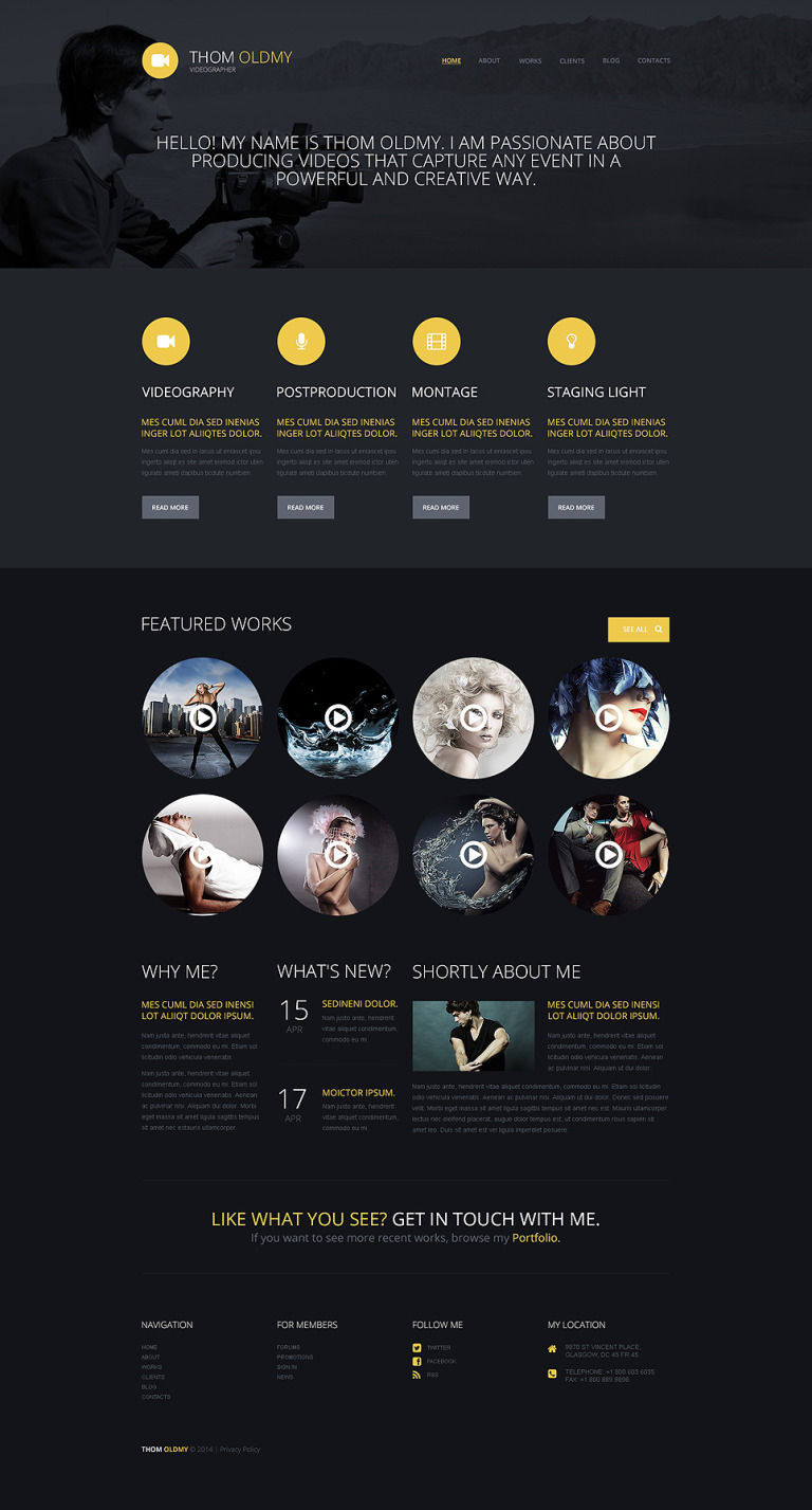 Videographer WordPress Theme New Screenshots BIG