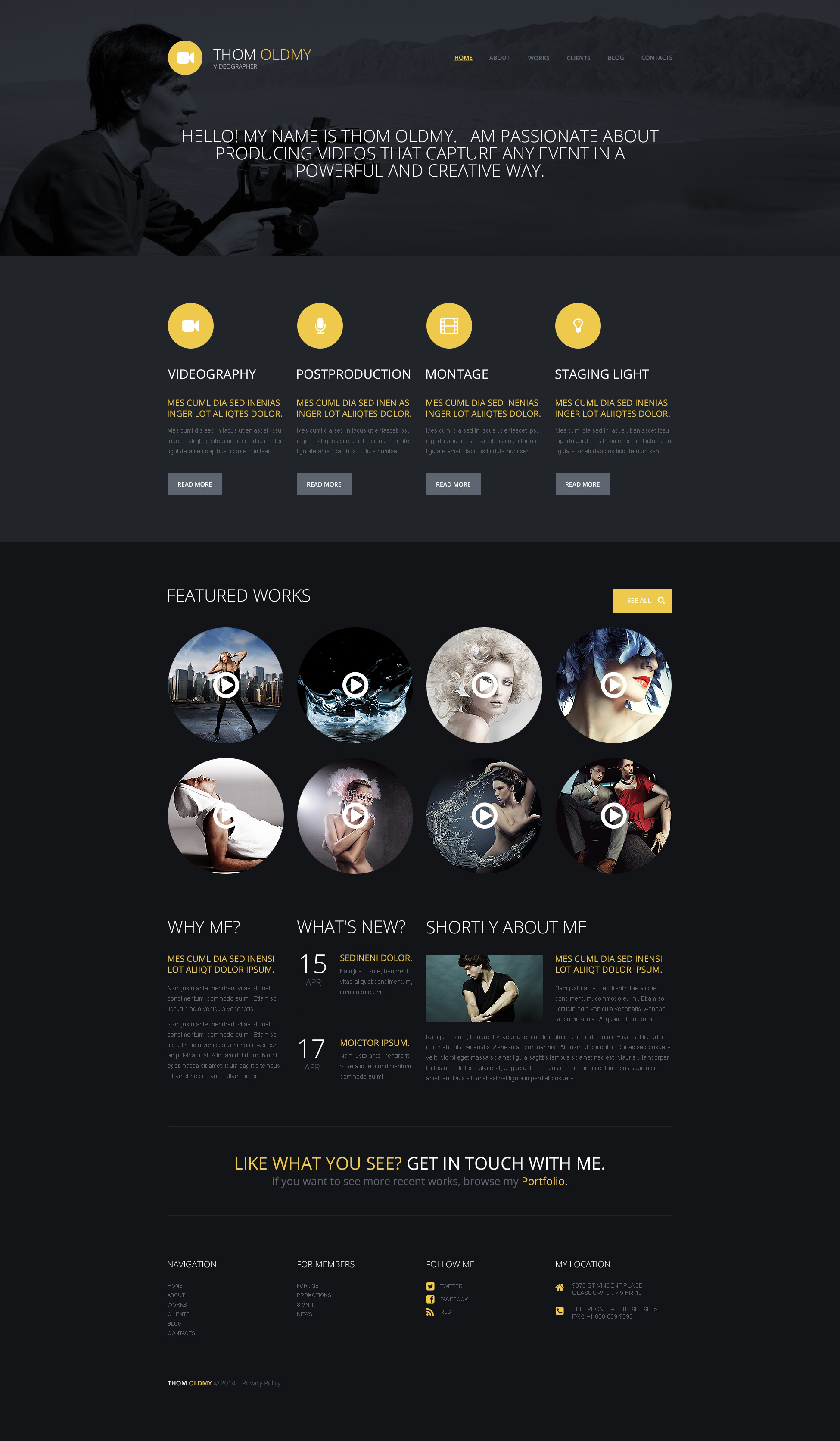 Videographer WordPress Theme - screenshot
