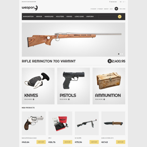 Weapon   - Responsive Magento Weapon Store Template
