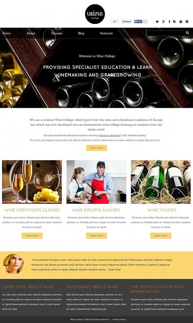Wine Flash CMS Template New Screenshots BIG