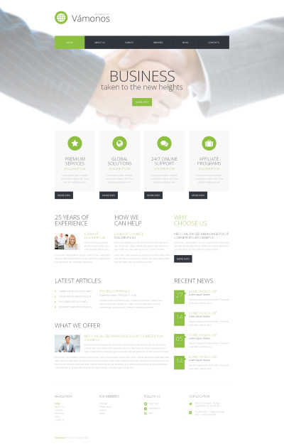 Адаптивный WordPress шаблон №50603 на тему связи с общественностью