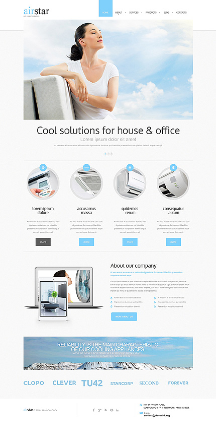 Drupal Template 50707 Main Page Screenshot
