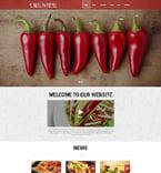Cafe & Restaurant Website  Template 50712