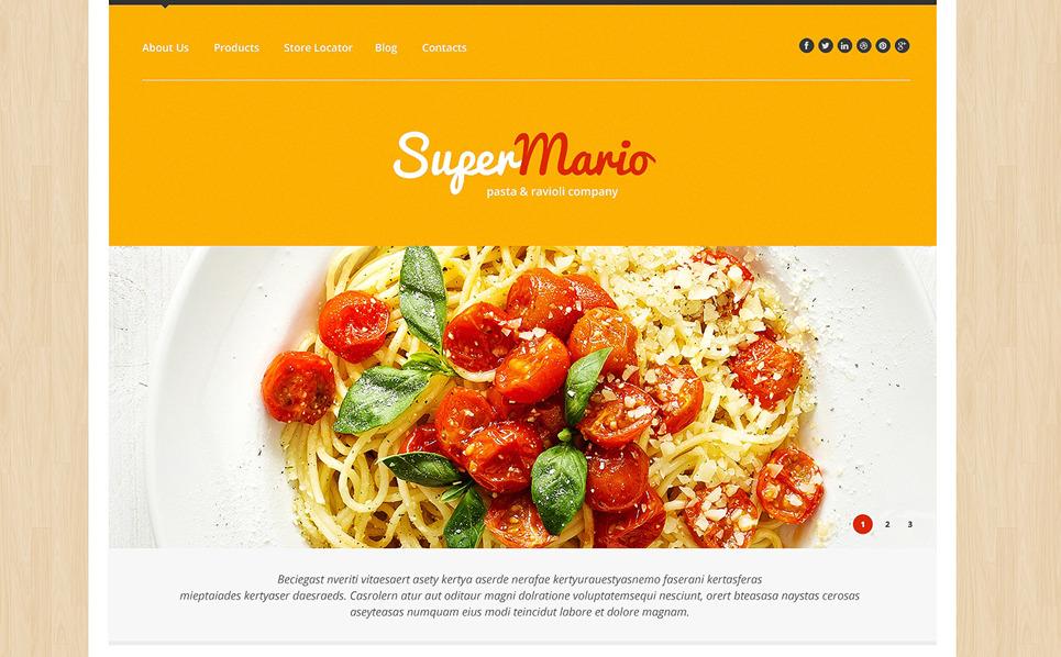 Reszponzív Ételek és italok  WordPress sablon New Screenshots BIG