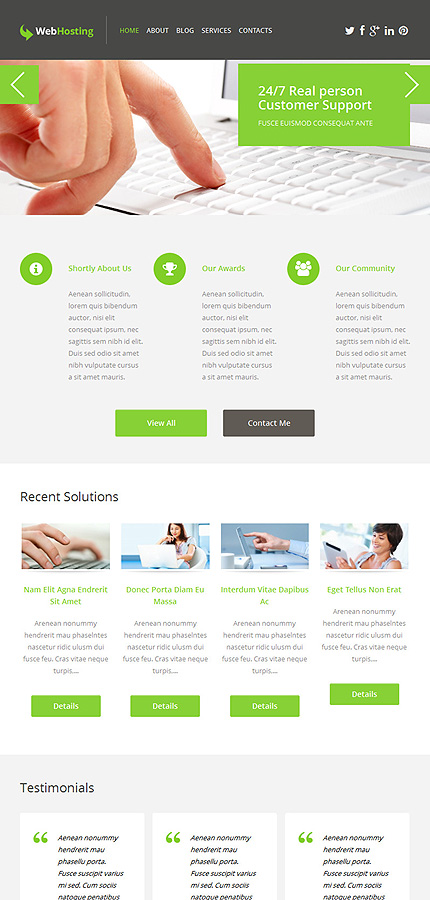 WordPress Theme/Template 50742 Main Page Screenshot