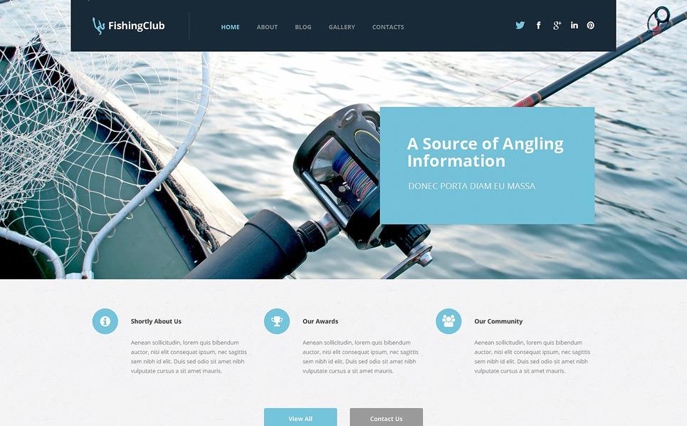 Reszponzív Halászat WordPress sablon New Screenshots BIG