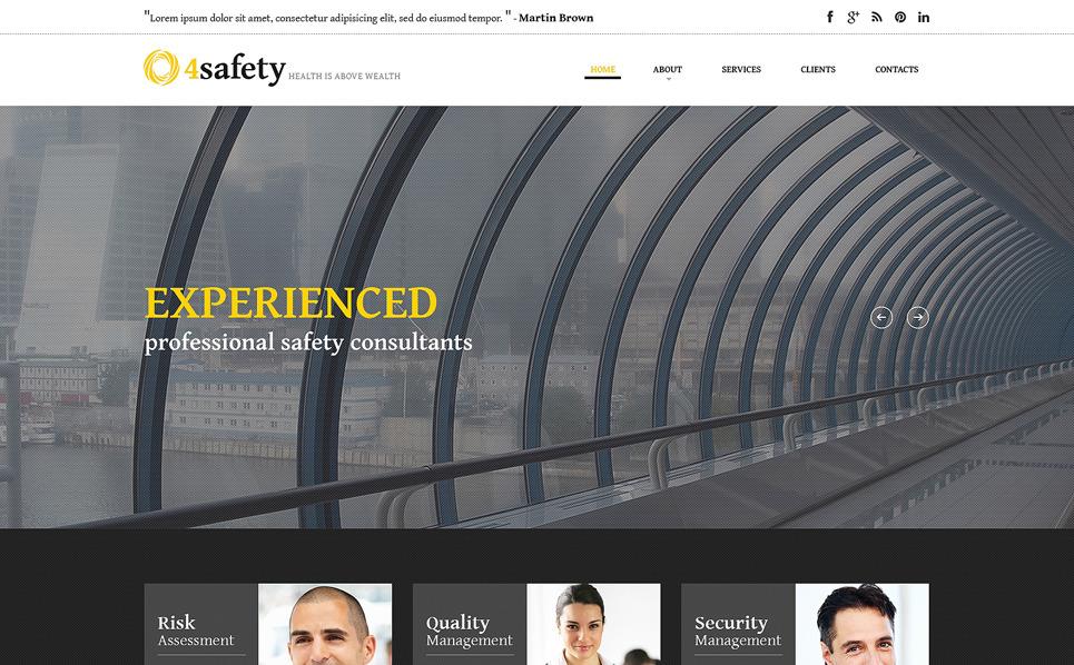 Адаптивный HTML шаблон №50748 на тему безопасность New Screenshots BIG