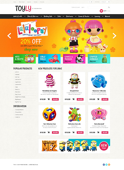 osCommerce Template 50752 Main Page Screenshot
