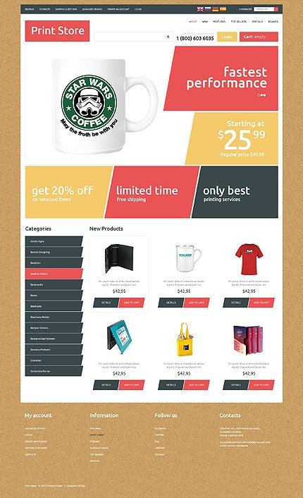 osCommerce Template 50753 Main Page Screenshot