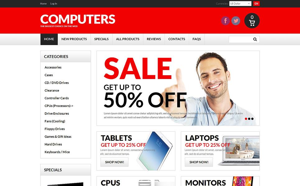 Szablon ZenCart #50754 na temat: sklep komputerowy New Screenshots BIG