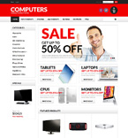 Computers ZenCart  Template 50754