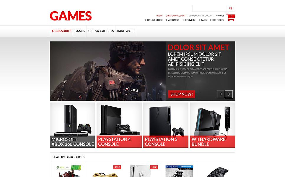 Szablon VirtueMart #50764 na temat: gry New Screenshots BIG