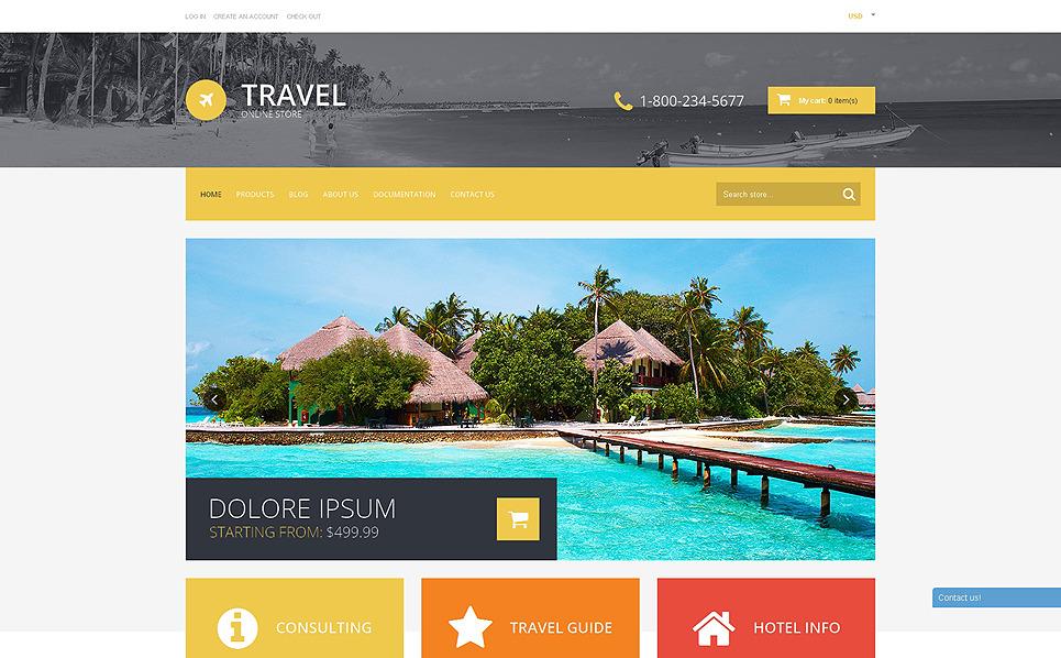 Responsywny szablon Shopify #50767 na temat: biuro podróży i turystyki New Screenshots BIG