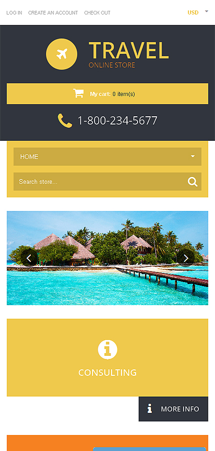 ADOBE Photoshop Template 50767 Home Page Screenshot