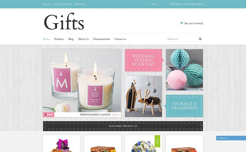 """""""Cadeaux élégants"""" thème Shopify adaptatif New Screenshots BIG"""