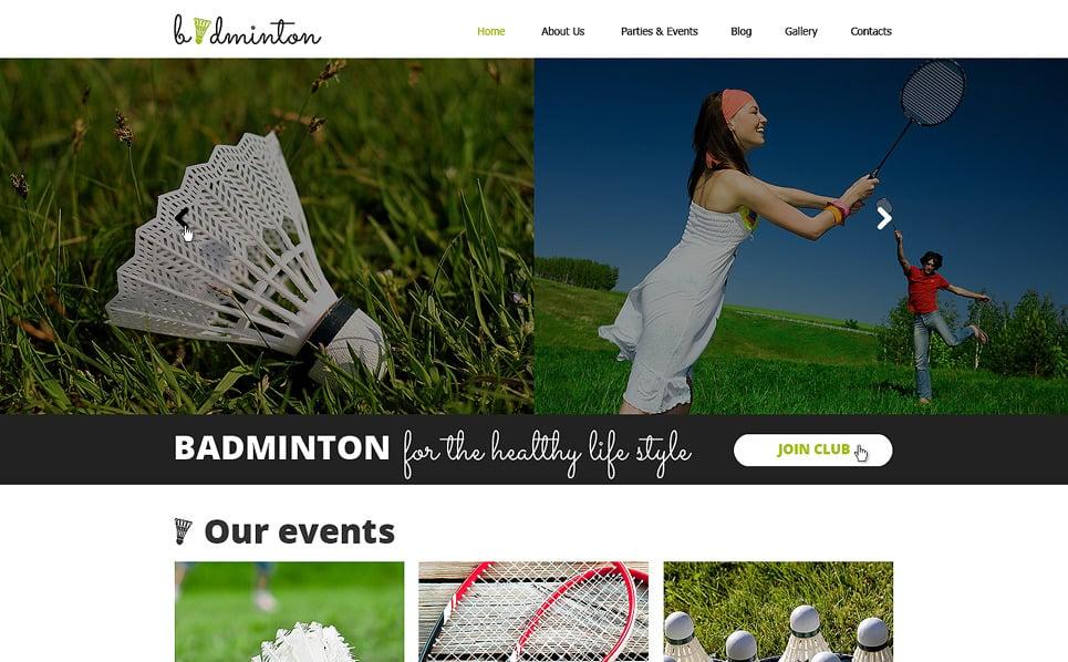 Responsywny szablon strony www #50776 na temat: Badminton New Screenshots BIG