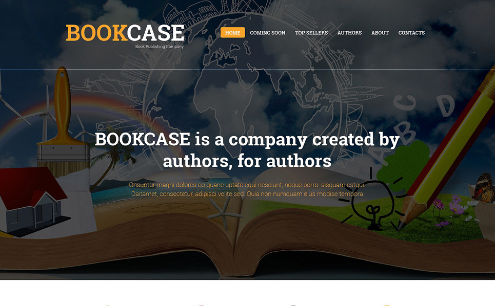 Responsive Website template over Uitgeverij  New Screenshots BIG