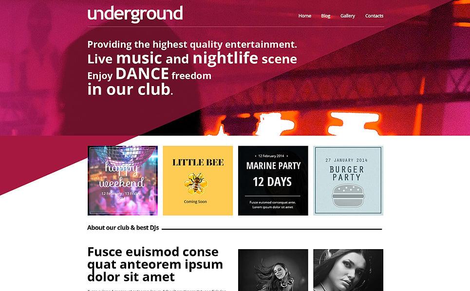 Szablon Drupal #50789 na temat: klub nocny New Screenshots BIG