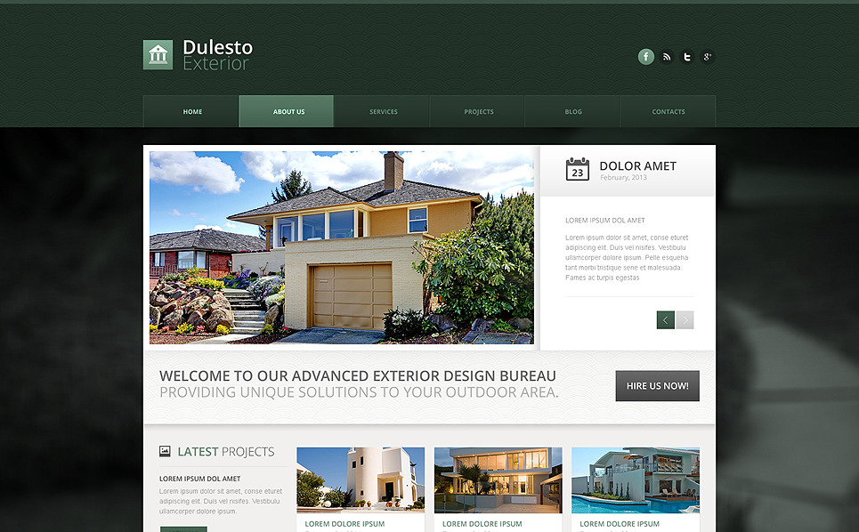 Szablon Drupal #50790 na temat: projektowanie zewnętrzne New Screenshots BIG
