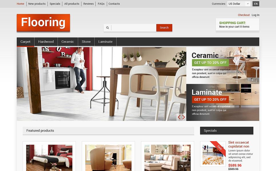 Plantilla ZenCart #50791 para Sitio de Piso New Screenshots BIG