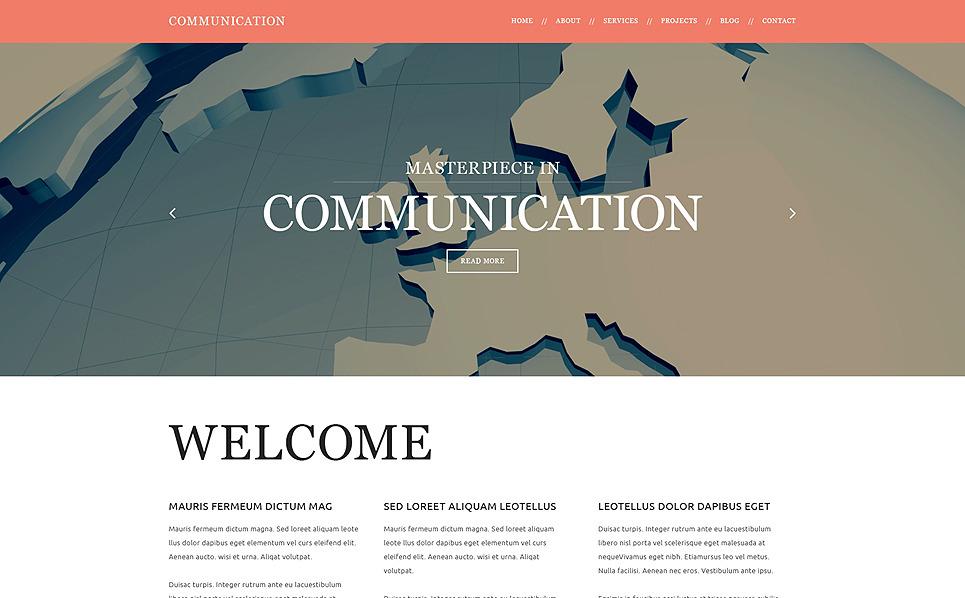 Адаптивний Joomla шаблон на тему комунікації New Screenshots BIG