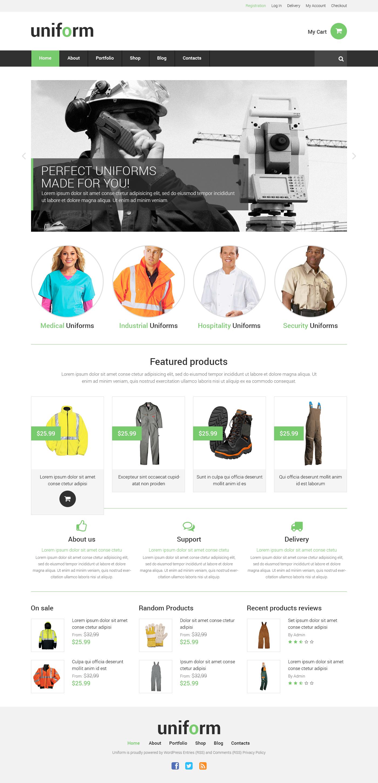 Адаптивный WooCommerce шаблон №50745 на тему спецодежда - скриншот