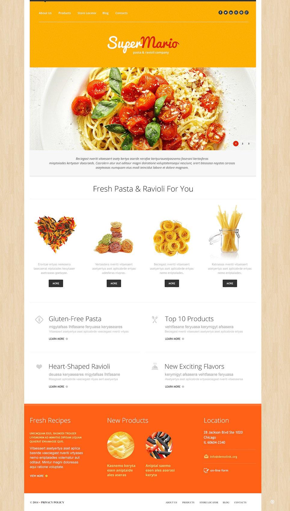 Адаптивный шаблон сайта на тему напитки и еда #50738